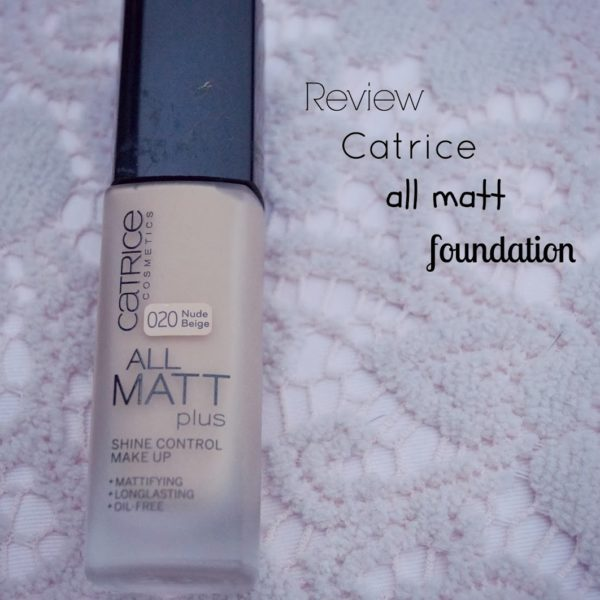 Review: Catrice all mat foundation.