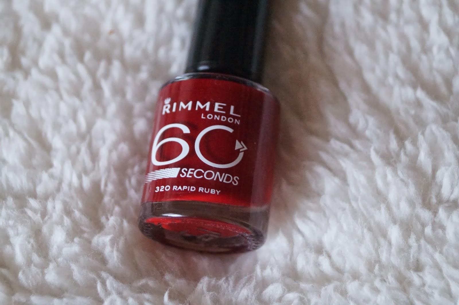 Review: Rimmel london, 60 seconds.