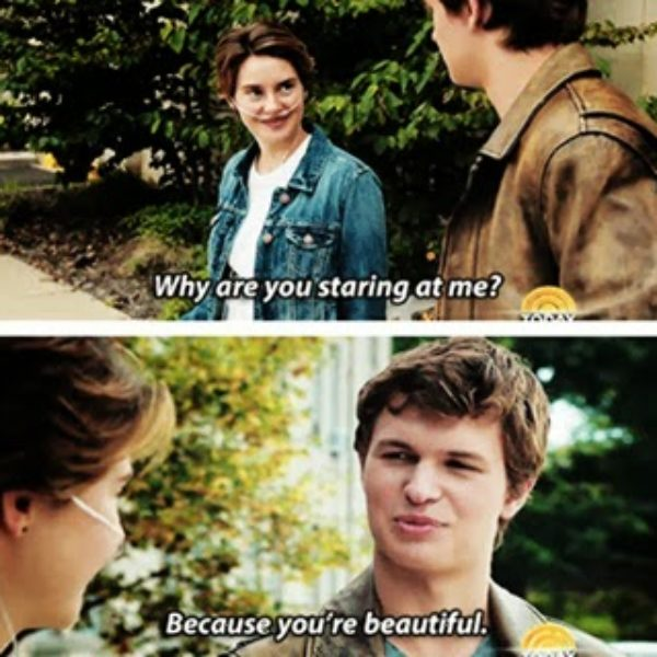 Movie: the fault in our stars.