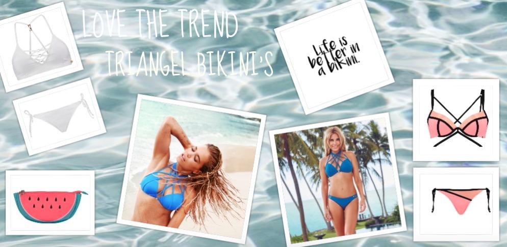 Love the trend | triangel bikini's