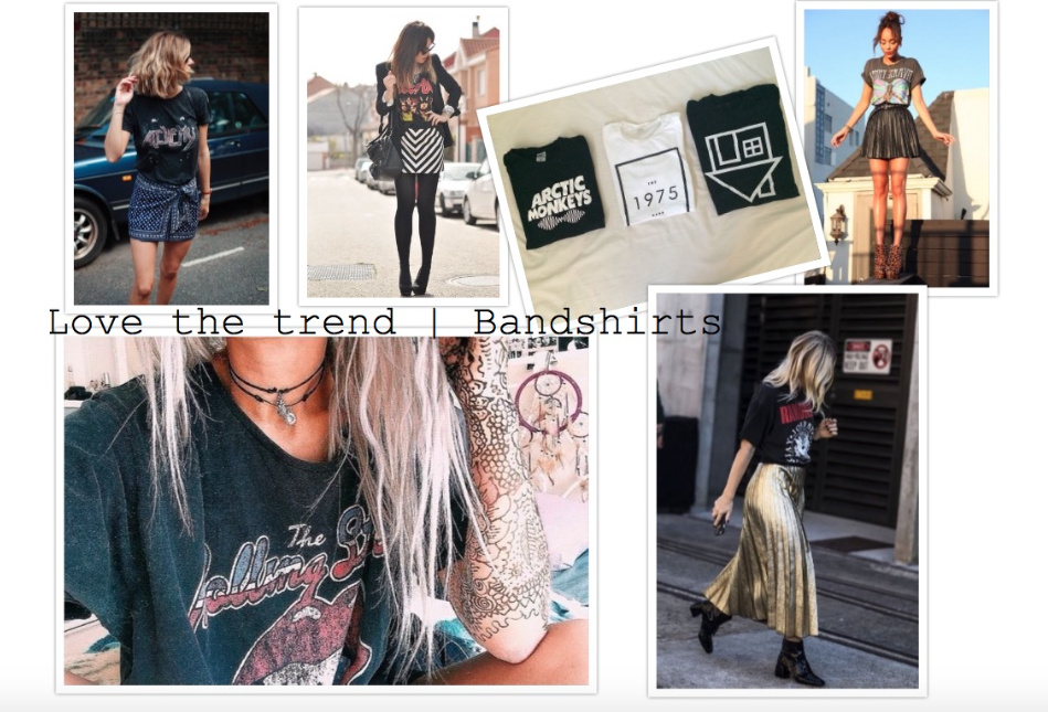Love the trend | Bandshirts