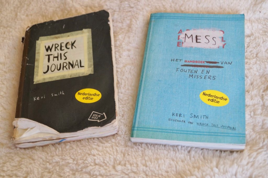 wreck this journal & mess.