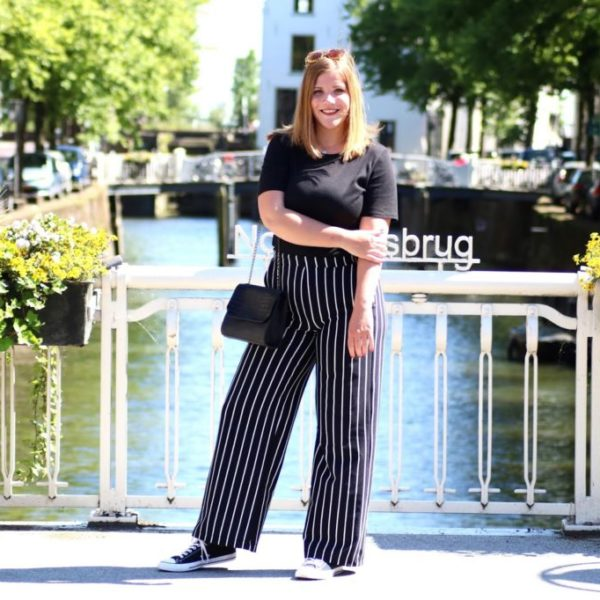 Much love for pants with stripes on it!
