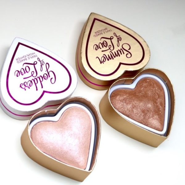 Review | I Heart Makeup, Goddess of love highlighter & Summer of love bronzer.