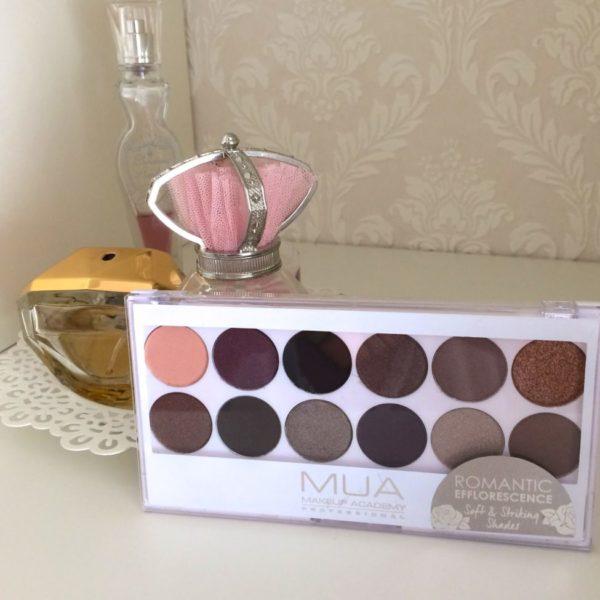 Review: MUA eyeshadow palette – Romantic Efflorescence.