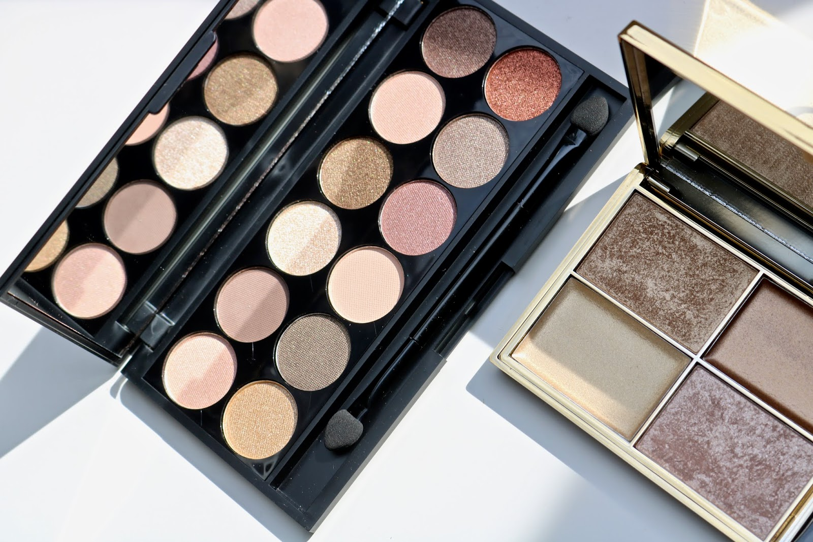 Review | Sleek highlighting palette Cleopatra's kiss + Sleek eyeshadow palette I Divine All Night Long